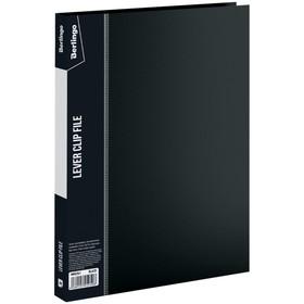 Папка с зажимом А4, 17 мм, 700 мкм Standard, чёрная Ош
