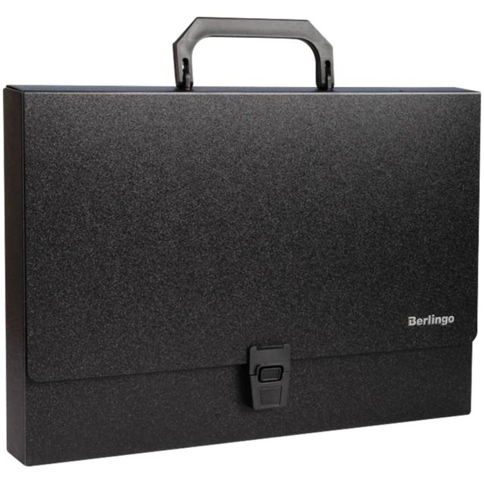 Папка-портфель 1 отделение Standard, 1000 мкм, чёрная