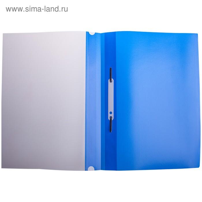 Папка-скоросшиватель пластиковая А4 Berlingo, 180 мкм, синяя, с прозрачным верхом, до 100 листов