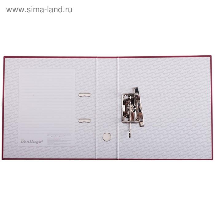 Папка-регистратор 70 мм Berlingo, бумвинил, с карманом на корешке, бордовая