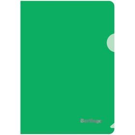 Папка-уголок А5, 180 мкм Berlingo, зелёная Ош