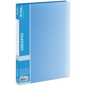 Папка с зажимом А4, 17 мм, 700 мкм Diamond, синяя Ош