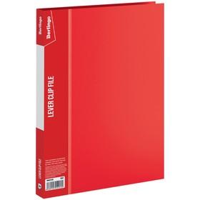 Папка с зажимом А4, 17 мм, 700 мкм Standard, красная Ош