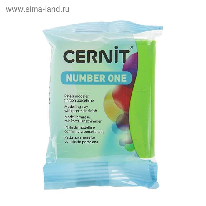 Полимерная глина запекаемая, Cernit Number One, 56 г, светло-зелёная, №611