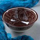 Коса малая Риштанская Керамика 15см/0,5л коричневая - Фото 1