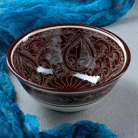 Коса малая Риштанская Керамика 15см/0,5л коричневая