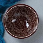 Коса малая Риштанская Керамика 15см/0,5л коричневая - Фото 2