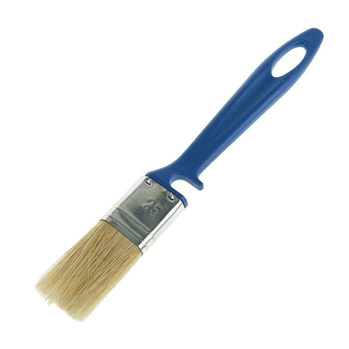 Кисть флейцевая TUNDRA, смешанная щетина, пластиковая ручка, 25 мм