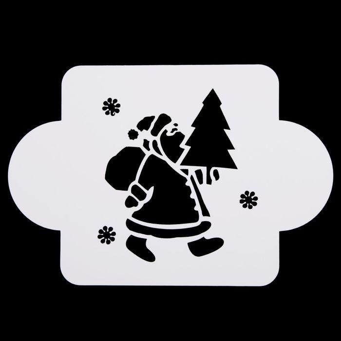 Трафареты зимних картинок для искусственного снега на окна