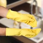 Перчатки хозяйственные защитные, суперпрочные, латекс, размер М, 45 гр, цвет МИКС