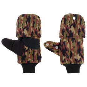 Перчатки из флиса с магнитом (камуфляж) Ош