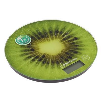 Весы кухонные HOMESTAR HS-3007, электронные, до 7 кг, зелёные - Фото 1