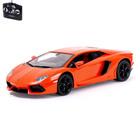Машина радиоуправляемая Lamborghini Aventador, 1:14, работает от аккумулятора, свет, цвет оранжевый