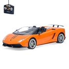 Машина радиоуправляемая Lamborghini Huracan, масштаб 1:14, работает от аккумулятора, свет, цвет оранжевый