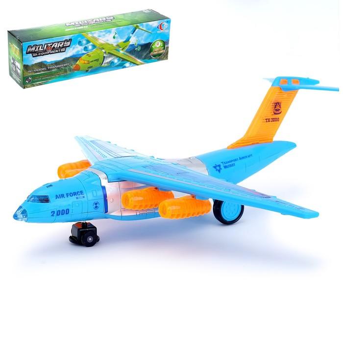 """Самолёт """"Авиалайнер', работает от батареек, световые и звуковые эффекты"""