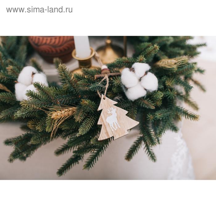 Подвеска новогодняя «Елочка с оленем»