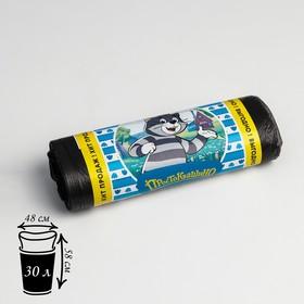 Мешки для мусора «Эконом», 30 л, 7 мкм, ПНД, 20 шт, цвет чёрный Ош