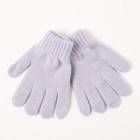 Перчатки одинарные детские, размер 10, цвет сиреневый 6с177/2_М