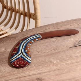 Сувенир 'Бумеранг с точечной росписью' цвет натуральный 38х9х1 см, МИКС Ош