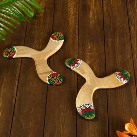 Сувенир 'Бумеранг тройной с точечной росписью' 23х23х1 см Ош