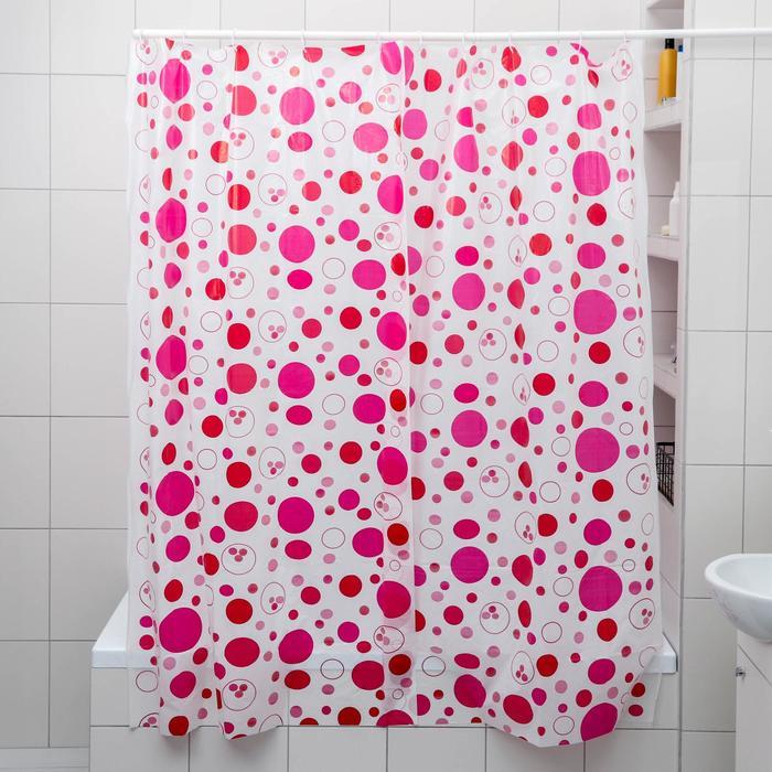 Штора для ванной комнаты Радуга цвета, 180180 см, полиэтилен, цвет МИКС