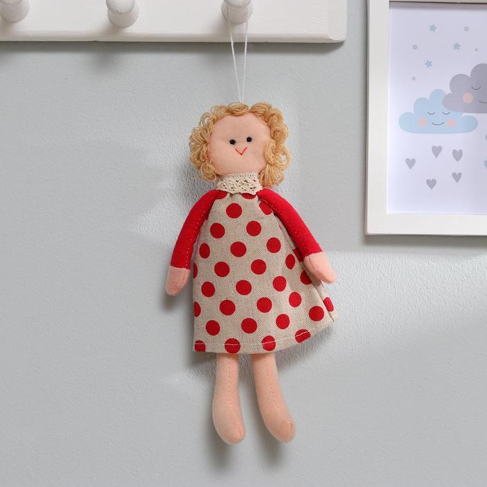Кукла интерьерная «Василиса», платье в горошек, цвета МИКС