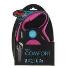 Рулетка Flexi New Comfort L (до 50 кг) лента 8 м, черный/розовый