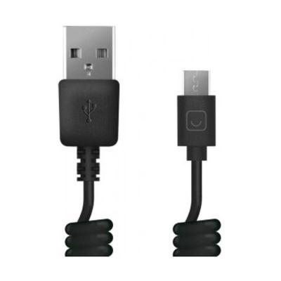 Кабель Prime Line (7209), витой, USB-micro, USB черный, 1,5 м - Фото 1