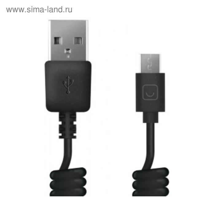 Кабель Prime Line (7209), витой, USB-micro, USB черный, 1,5 м