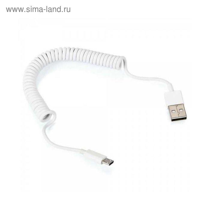 Кабель Prime Line (7210) Витой USB-micro USB белый 1,5 м