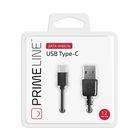 Кабель Prime Line (7213) USB - USB Type-C, 1.2м, черный - Фото 2