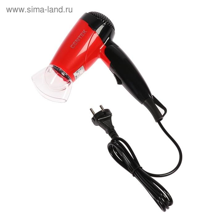 Фен CENTEK CT-2230 RBL, 1200Вт, 2 скорости и t нагрева, складная ручка, красно-чёрный