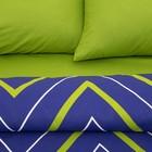 Постельное бельё Этель 2 сп «Зелёно-синие зигзаги» 175х215, 200х220, 70х70-2 шт - Фото 2