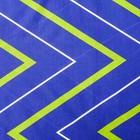 Постельное бельё Этель 2 сп «Зелёно-синие зигзаги» 175х215, 200х220, 70х70-2 шт - Фото 3