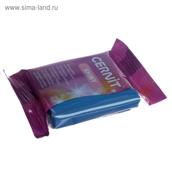 Полимерная глина запекаемая, Cernit Shiny, 56 г, с цветной слюдой, переливающийся, синяя, №200