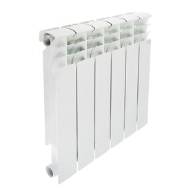 Радиатор биметаллический STI, 500 х 80 мм, 6 секции
