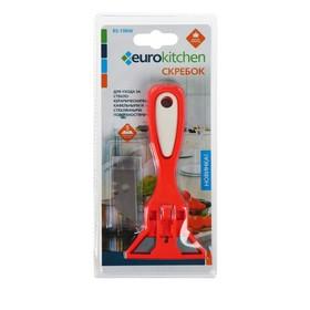 Скребок для стеклокерамических плит Euro Kitchen цвет красный/белый, 1 шт(+ 3 лезвия) Ош