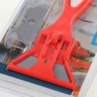 Скребок для стеклокерамических плит Euro Kitchen цвет красный/белый, 1 шт(+ 3 лезвия) - Фото 2