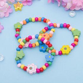 Браслет детский 'Выбражулька' цветы радужные, цвет МИКС Ош