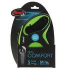 Рулетка Flexi New Comfort М (до 25 кг) лента 5 м, черный/зеленый