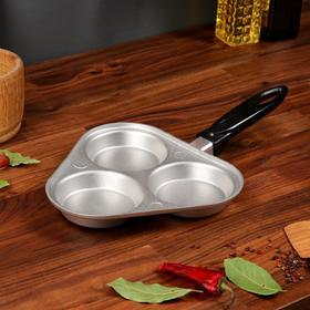 Сковорода для яичницы и оладьев, литой алюминий, 37х22 см