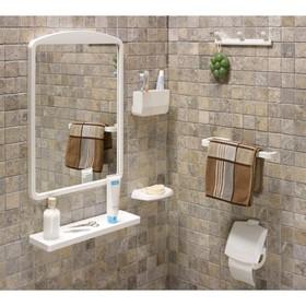 Комплект навесных аксессуаров для ванной и туалета, 7 предметов, цвет розовый Ош
