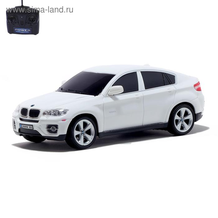 Машина радиоуправляемая BMW X6, масштаб 1:24, работает от батареек, свет, цвет белый