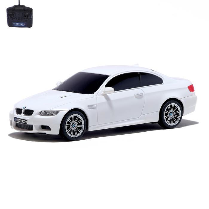 Машина радиоуправляемая BMW M3, 1:24, работает от батареек, свет, цвет белый