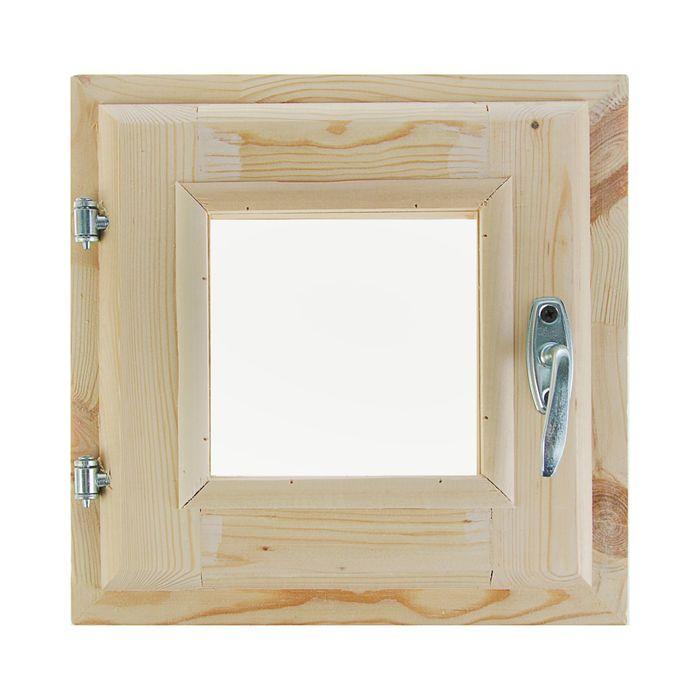 Окно, 30×30см, двойное стекло, с уплотнителем, из хвои