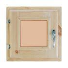 Окно, 30?30см, двойное стекло, тонированное, с уплотнителем, из хвои