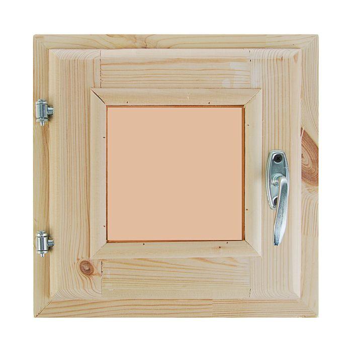 Окно, 30×30см, двойное стекло, тонированное, с уплотнителем, из хвои