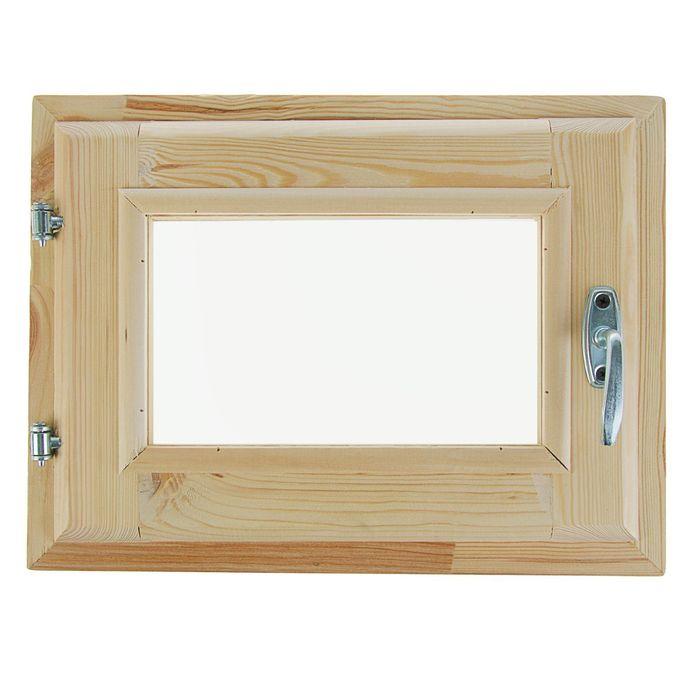 Окно, 30×40см, двойное стекло, с уплотнителем, из хвои