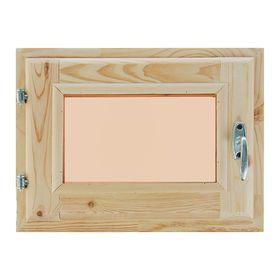 Окно, 30×40см, двойное стекло, тонированное, с уплотнителем, из хвои Ош