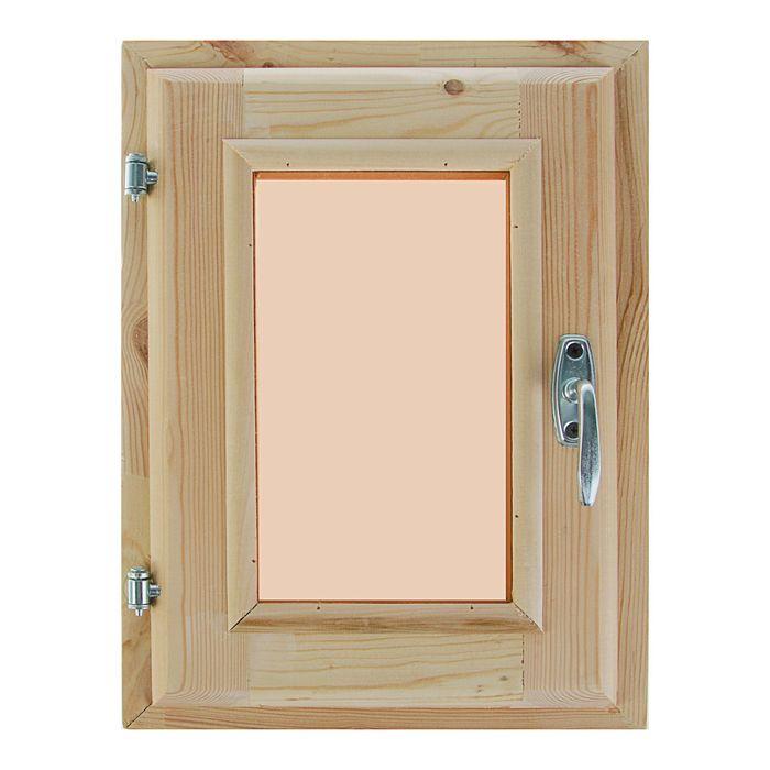 Окно, 40×30см, двойное стекло, тонированное, с уплотнителем, из хвои